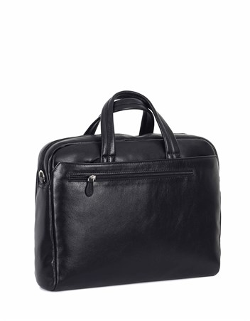 Genuine Leather Laptop Bag - 242 - 1