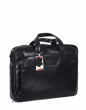 Genuine Leather Laptop Bag - 246 - 1