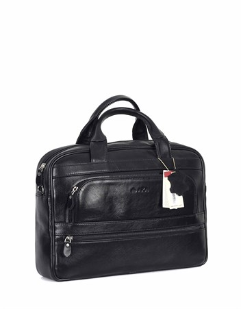 Genuine Leather Laptop Bag - 251 - 1