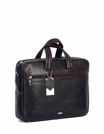 Genuine Leather Laptop Bag - 253 - 1