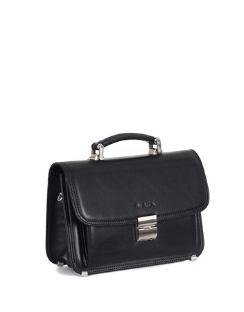 Genuine Leather Portfolio Bag - 166 - 1