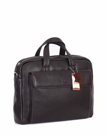 Genuine Leather Laptop Bag - 242 - 4