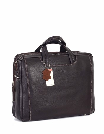 Genuine Leather Laptop Bag - 245 - 4