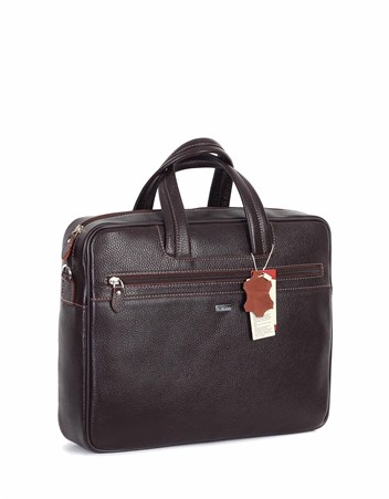 Genuine Leather Laptop Bag - 253 - 4