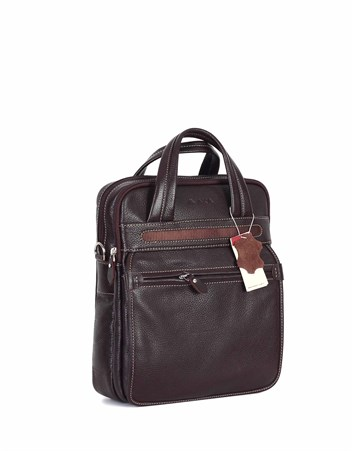 Genuine Leather Portfolio Bag - 374 - 4