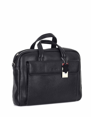 Genuine Leather Laptop Bag - 242 - 2