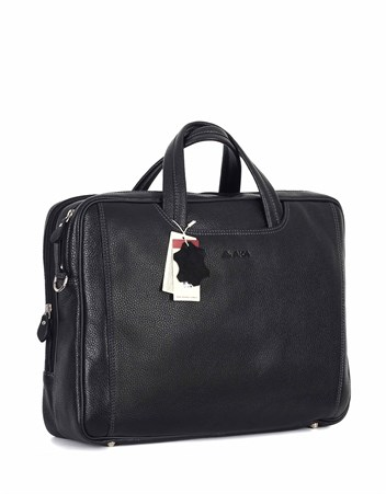 Genuine Leather Laptop Bag - 245 - 2