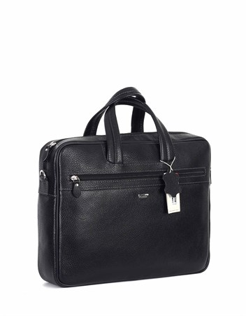 Genuine Leather Laptop Bag - 253 - 2