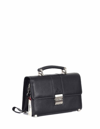 Genuine Leather Portfolio Bag - 148 - 2