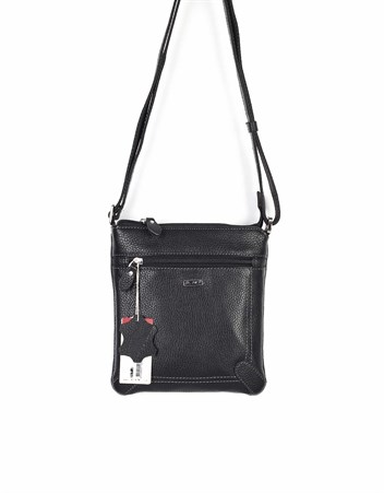 Genuine Leather Shoulder Bag - 317 - 2