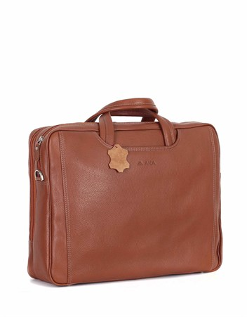 Genuine Leather Laptop Bag - 245 - 6