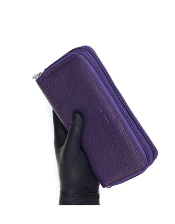 Genuine Leather Womens Wallet-495 - 19