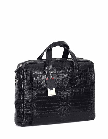 Genuine Leather Laptop Bag - 242 - 12